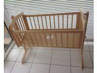 Solid Wood Rocking Cradle, excellent condition