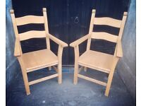 Pair of good quality Beech Armchairs - exceptional condition