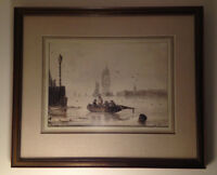 Dutch Harbour Scene by S.A. VAN DOORT. 19th Cent. Watercolour