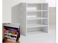 Storage shelving display cabinet 4 shelves shelving unit storage shoes clothes organiser cabinet