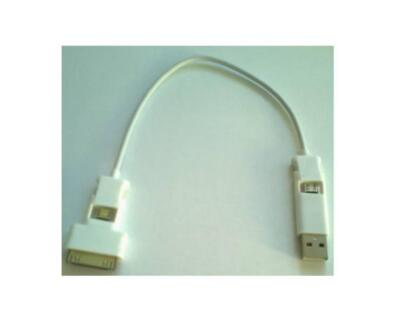 USB to Micro USB to 30pin Adapter