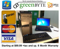 C2D and up Starting at $70.79 Win 7 & Office 2010