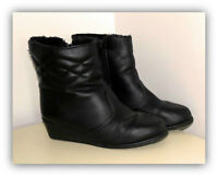 Winter Black Fashion Zip-Up Ankle Boots