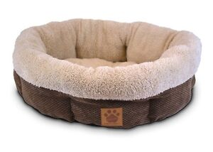 Pet Bed for dogs and cats - Ultra Soft Shearling Cup Round Bed Coffee 21