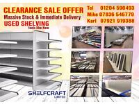 Used Commercial Retail Shop Shelving Stock Clearance Offer