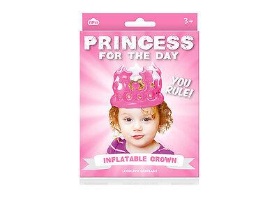 Aufblasbare Krone - Prinzessin für einen - Eine Prinzessin Kostüm