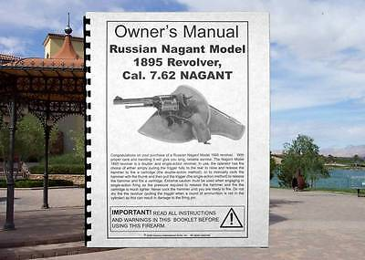Russian NAGANT Model 1895 Cal 7.62 Revolver Gun Owners  MANUAL Century for sale  Ely
