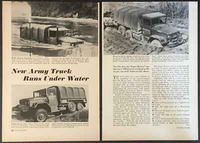 Army M35 2 1/2 Cargo Truck REO Duece and a Half 1950 pictorial Eager Beaver, used for sale  Diamond Point