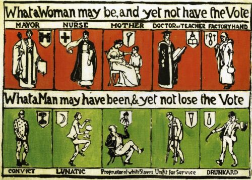 Most Famous SUFFRAGETTE Postcard x3 - 'What a Woman can be and yet not have...'