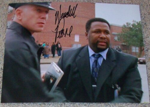 WENDELL PIERCE SIGNED AUTOGRAPH THE WIRE BUNK 8x10 PHOTO A w/EXACT PROOF