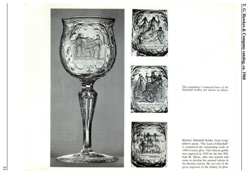 Hawkes Cut Glass, 1880-1962, Ads,  Catalog Reprint, Etc