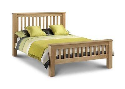 solide Eiche Holzbett 4ft6 5ft Shaker Stil mit Lattenrost Sofa Federung ()