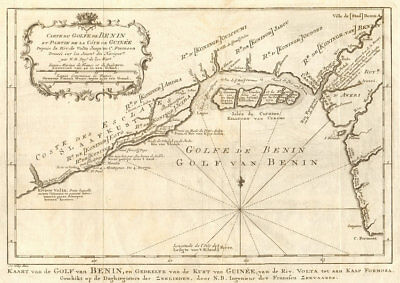 'Carte du Golfe de Benin'. Bight of Benin. Nigeria Lagos BELLIN/SCHLEY 1748 map