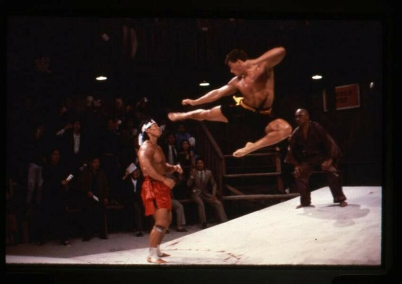 Jean-Claude Van Damme Bolo Yeung Bloodsport fighting Original 35mm Transparency