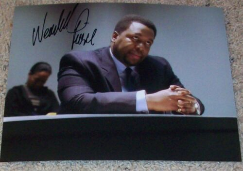 WENDELL PIERCE SIGNED AUTOGRAPH BUNK THE WIRE 8x10 PHOTO B w/EXACT PROOF
