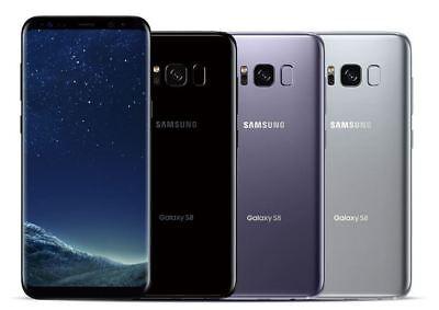 Samsung Galaxy S8 SM-G950F 64GB Orchid Grey Black Coral Blue Unlocked Smartphone