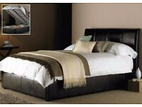 2000 POCKET SPRUNG MATTRESS SET= BRAND NEW GAS LIFTED DOUBLE LEATHER STORAGE BED FRAME ONLY £ 129