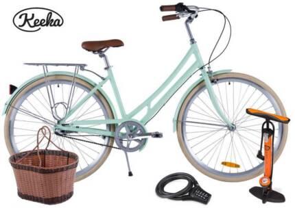 RETRO LADIES Keeka 3 Speed includes Basket, Pump, Lock & Delivery Melbourne CBD Melbourne City Preview