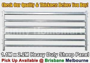 1.1M x 2.2M Sheep Panel Gate Heavy Duty Galvanised Steel Pig Goat Derrimut Brimbank Area Preview