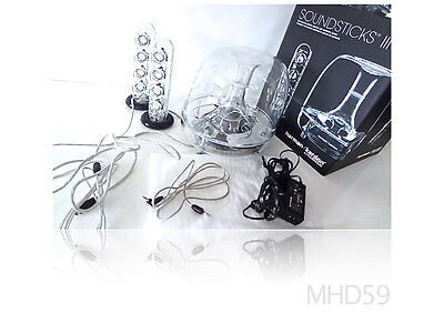 HARMAN KARDON SoundSticks III Speaker System + SUBWOOFER + BOX Mac OS X and PC segunda mano  Embacar hacia Mexico