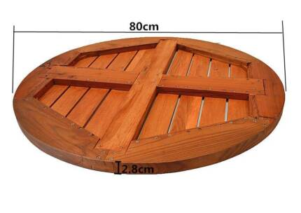 NEW Outdoor Funiture Table Wooden Lazy Susan (80cm) South Granville Parramatta Area Preview