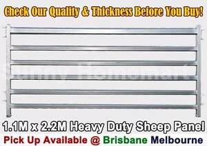 1.1 x 2.2M Sheep Panel Gate Galvanised Steel Heavy Duty Pig Goat Richlands Brisbane South West Preview
