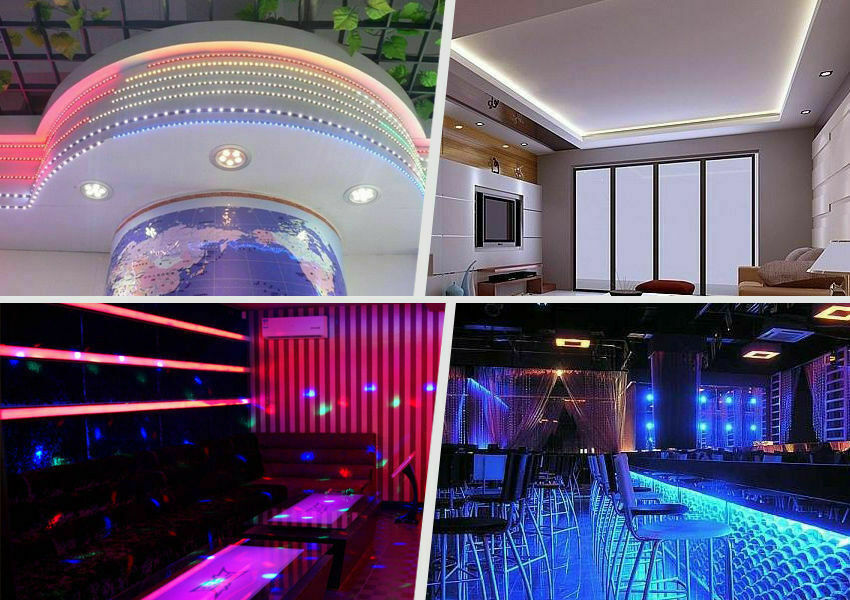 Led Strip Lighting 2*5M 32.8 Ft 5050 RGB 300 LEDs Flexible Color Changing Light Home & Garden