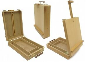 DESKTOP-ARTIST-EASEL-WOODEN-PORTABLE-COMPACT-STAND-Student-Drawing-Painting