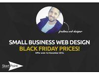 BLACK FRIDAY PRICES - Small Business Web Design - University Graduate