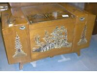 Chinese Teak Storage Trunk Blanket Box Or Chest With Camphor Wood Lining