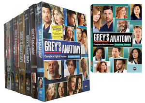 Greys Anatomy Seasons 1-2-3-4-5-6-7-8-9 Complete Series 1-9