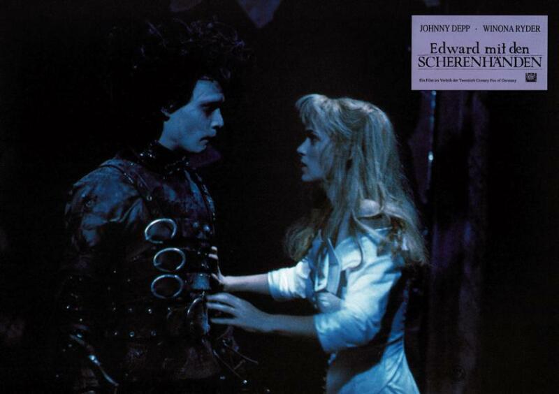 Edward Scissorhands Original German Lobby Card 8x12 Johnny Depp Winona Ryder