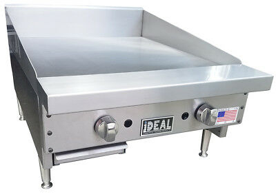 New 24 Commercial Flat Griddle Plate By Ideal. Made In Usa. Nsf Etl Approved