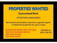 **Guaranteed rent for up to 5 years**