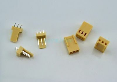 100pcs 3p Kf2510 2.54mm Pin Header Housing Connector Kf2510-3p