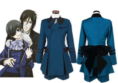 Butler Outfit Costume ( Black Butler Ciel Phantomhive Cosplay Costume Cospaly Full Set Outfit)