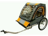 Halford double buggy bike trailer
