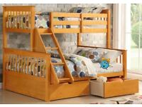 Wooden Triple Bunk Bed