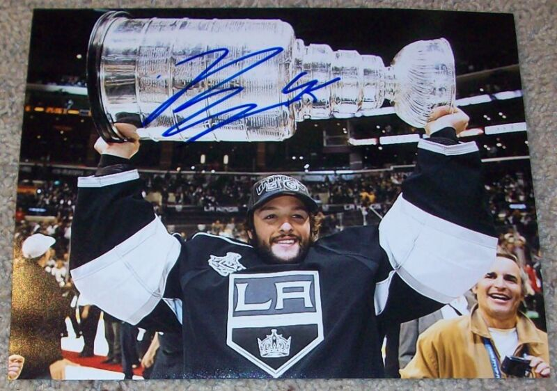 JONATHAN BERNIER SIGNED L.A. LOS ANGELES KINGS STANLEY CUP 8x10 PHOTO B w/PROOF