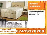 DOUBLE DIVAN BED WITH ORTHO MATTRESS