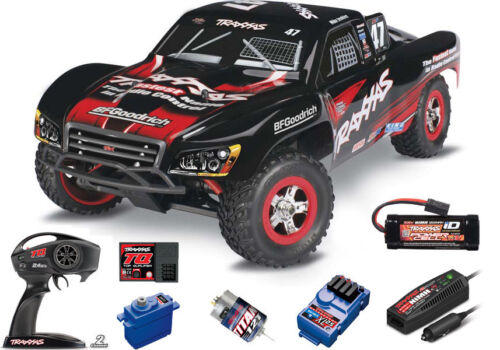 Traxxas 1/16 Slash Truck 4x4 Rtr W/ Tq Radio/Battery/Charger #47 Mike Jenkins