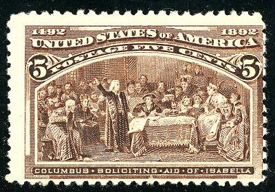 US Scott #234 Columbian Exposition 5¢ Chocolate (1893) MH***FREE SHIP****