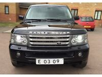LHD LEFT HAND DRIVE RANGE ROVER SPORT SUPERCHARGED 4.2 HSE 2008 BLACK EDITION FULLY LOADED TV SATNA