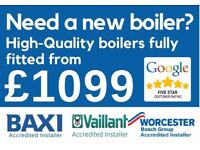 £1099 Supply&Fit with MIN 5-YEAR WARRANTY/Boiler Installation/Repair/Replacement/New Boiler/GAS SAFE