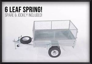 DRIVE AWAY! BEST PRICE GUARRENTEE! 7x4 Gal Trailer with Cage Brisbane Region Preview