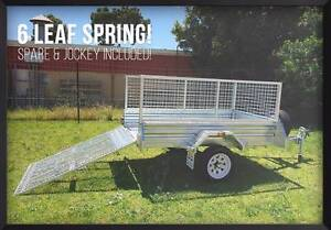 Month Special! 7x4 Gal Ramp Box Cage Lawn Mower Bike Trailer Brisbane Region Preview
