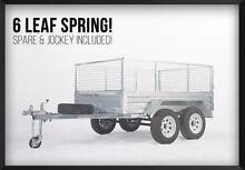 SALE! LICENSED GALVANIZED TANDEM BRAKED 8x5 BOX TRAILER Wetherill Park Fairfield Area Preview