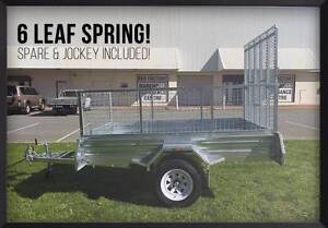 1600mm Ramp! Mower Bike Quad 8x5 Ramp Box Trailer with Mesh Cage Meadowbrook Logan Area Preview