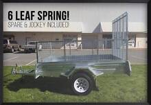 Rego Inc! Mower Bike Quad 8x5 Ramp Box Trailer with Mesh Cage Brisbane Region Preview
