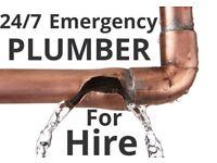 Plumber for emergency repairs, - 24/7 - plumbing work, heating, bathroom installations, leaks sorted